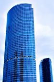 picture of business-office  - Big and small skyscrapers business center in Moscow Russia - JPG