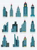 Skyscraper icons (blue)