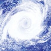 stock photo of hurricane wind  - A depiction of a hurricane adapted from a cloud picture - JPG