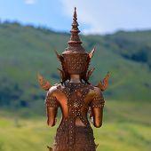 Back Of Metal Buddha Image