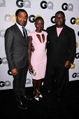 LOS ANGELES - NOV 12:  Chiwetel Ejiofor, Lupita Nyong'o, Steve McQueen at the GQ 2013