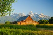 One of two barns in the Teton National Park built by the Mormon brothers Thomas and John Moulton