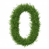 image of arabic numerals  - Arabic numeral made of grass - JPG