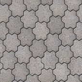 pic of six-petaled  - Gray Figured Pavement in the Form of Flower with Six Petals - JPG