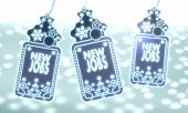 Three Christmas Labels With New Jobs Sticker