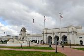 Union Station in clouds -  Washington DC, United States