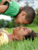 stock photo of mother child  - Beautiful African American Mother  - JPG