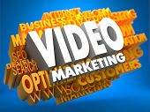 Video Marketing. Wordcloud koncept.
