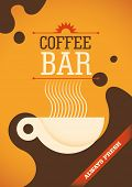 Coffee bar poster design. Vector illustration.