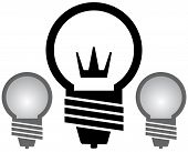 light Bulb With Crown Set