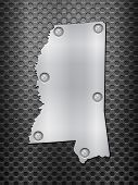Mississippi Metal Map