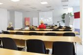 image of training room  - Image of empty conference room in a break - JPG
