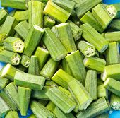 Fresh Okras Ready To Cook