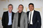 LOS ANGELES - APR 9:  Tom Bergeron, Todd Thicke, Mario Lopez at the An Evening with