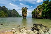 stock photo of james bond island  - James Bond Island from Phang Nga Bay - JPG