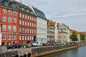 COPENHAGEN, DENMARK-CIRCA July 2013:Colourful Façades along Nyhavn