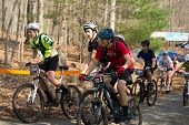 The Start of a Mountain Bike Race