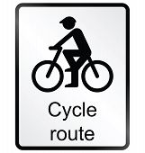 Cycle route Information Sign