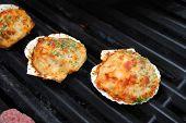 Grilling Summertime Stuffed Clam Shells