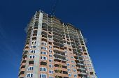 KIEV, UKRAINE -APR 25, 2014: Modern residential area. Building construction  .April 25, 2014 Kiev, U