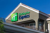 Holiday Inn Express Sign At Night