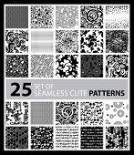 Big Vector Set Of Twenty Five Seamless Patterns
