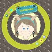 Zodiac signs collection. horoscope - capricorn.