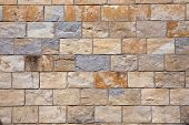 stock photo of stonewalled  - Abstract background for design stone blocks wall vector illustration - JPG