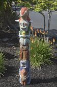 Balance statue by artist Sherry Tobin at public art walk in town of Yountville