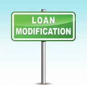 Vector Loan Modification Signpost