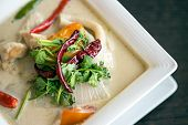 Thai Cuisine- Tom Kha Kai -chicken In Coconut Milk Soup