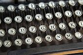 image of qwerty  - Old typewriter closeup o keys - JPG
