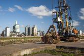 Dockside neglected crane
