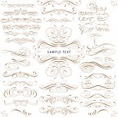 Curls Design Elements Set