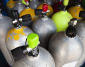Air Tanks Filled For A Dive