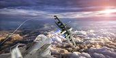 aircraft chasing
