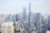 Business district of Shanghai, China