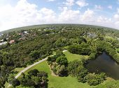 Tropical Park And Lake Aerial View