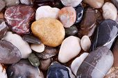 Sea stones as background
