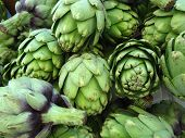 Pile Of Green Artichoke