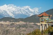Tibet Pavilion And Meili Snow Mountain In Yunnan