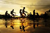 Ho Chi Minh City, Flood Tide, Sunset