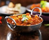 indian curry - chicken vindaloo in balti dish