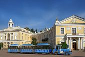 Excursion Train On The Square At The Pavlovsk Palace, Saint Petersburg