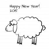 Christmas sheep outline
