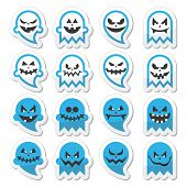 pic of halloween characters  - Vector icons set for Halloween  - JPG
