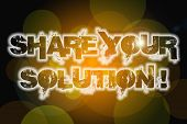 Share Your Solution Concept