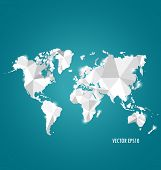 Modern world map design, vector illustration.