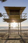 Gold Coast Surfers Paradise lifeguard hut sunrise