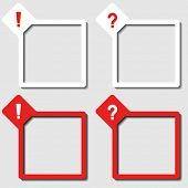 vector paper frames exclamation question mark